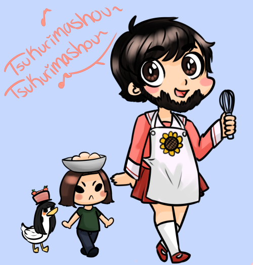 I don't know. Jon likes Azumanga Daioh so I thought it'd be cute to draw this.