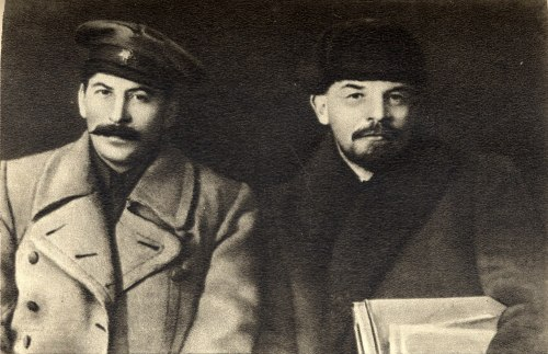 Today in history: December 18, 1878 - Joseph Stalin's birthday. Stalin joined the Bolsheviks in 1903. During the years before the 1917 Russian revolution Stalin was captured and sent to Siberia seven times, but escaped most of these exiles. He was elected to the Bolshevik central committee in April 1917, and became General Secretary of the Communist Party in 1922. He led the process of building so cialism in the Soviet Union during its first decades (when many said it couldn't be done), transforming it from a largely agrarian society to a major industrial power. Stalin led the Soviet Union in playing the key role in rolling back and defeating the Nazis in World War II. These were two of the most important feats of the 20th century. (image: Stalin with Lenin in 1919)   Via Freedom Road Socialist Organization (Fight Back!)