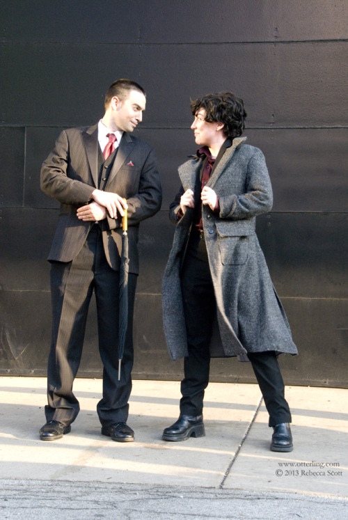 ACEN was so amazing. Thanks to my amazing friend V, I got to play Moriarty for the weekend and we laughed so much! We went to the Sherlock cosplay photoshoot and there were so many amazing cosplayers there. Most were Sherlock, Moriarty, John, or Sebastian but there was ONE Mycroft and he was epic.  If you recognize the people in this photo, please let me know so I can tag them!