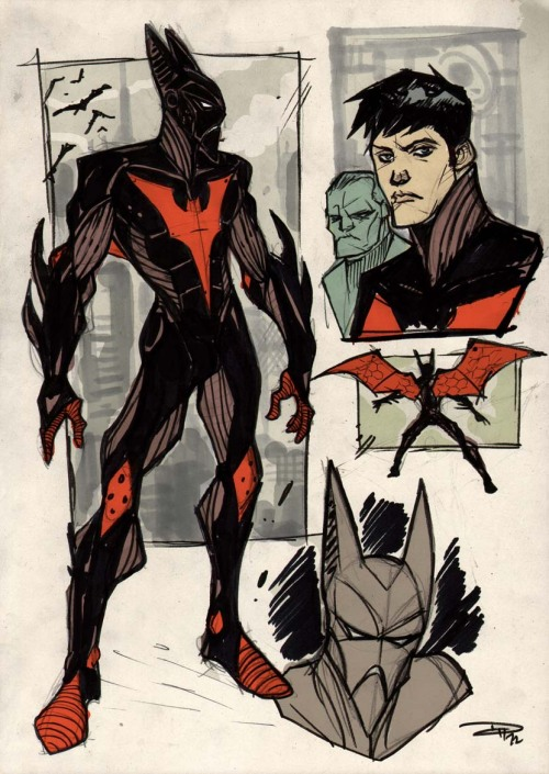 kandidkandor:  Batman Beyond Re-Design | Denis Medri