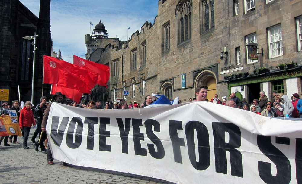 redkola:   Independence for Scotland supporters at Edinburgh Mayday 2013