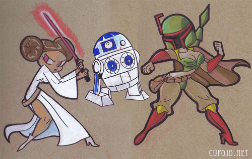 eatsleepdraw:  Free art drops in honor of #MayTheFourth. http://jothezette.blogspot.com  |  http://jothezette.tumblr.com/