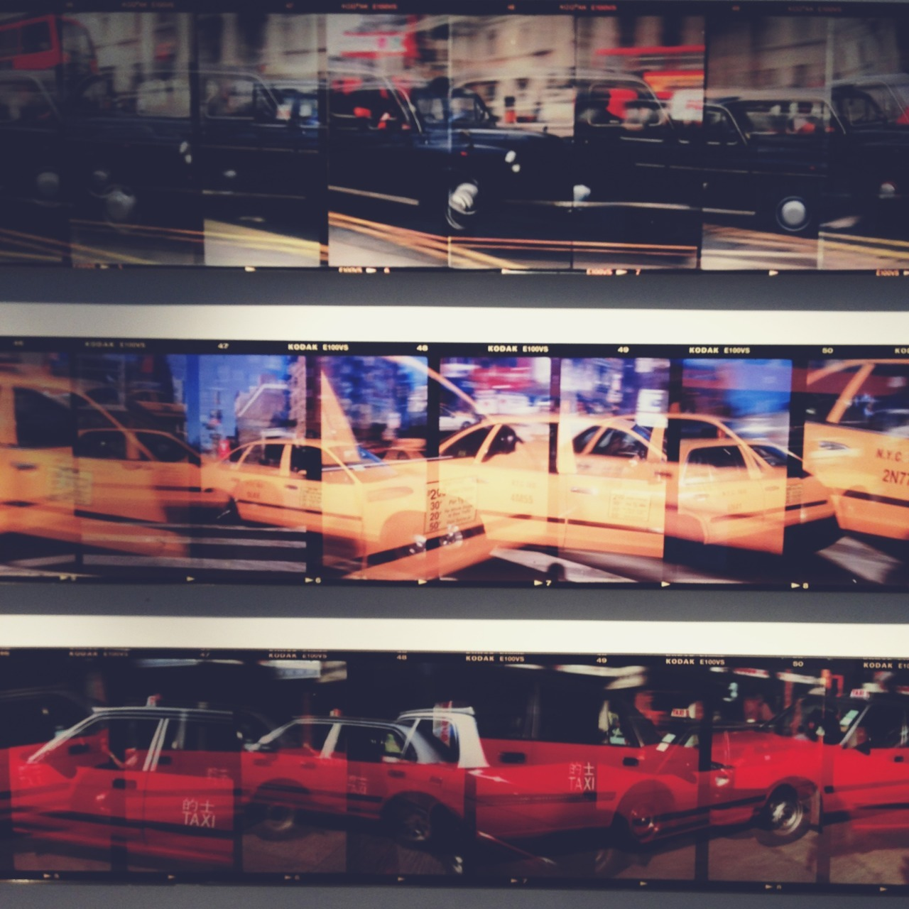 bchk:  taxicabs of london, new york and hong kong. coolest art installation I've seen in a while.