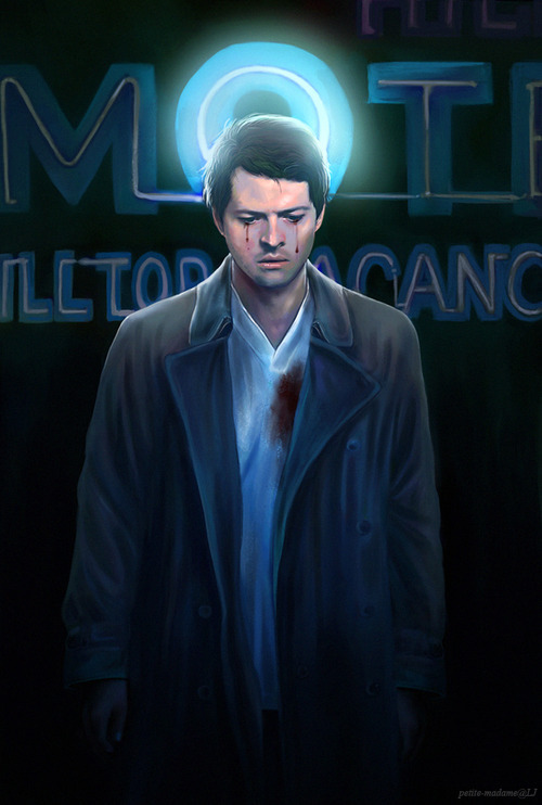 petite-madame:  Angel in America Castiel - Photoshop CS6