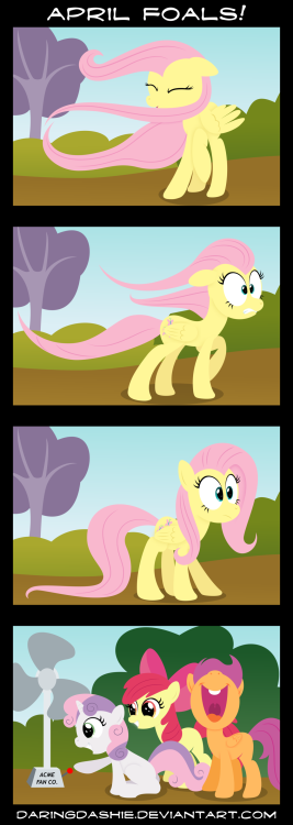 losweonessexysdeldisqus:  April Foals! by DaringDashie