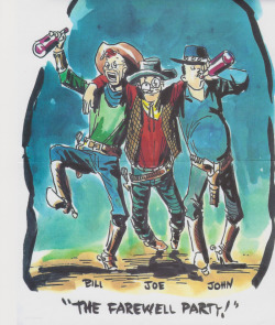 Bill Everett, Joe Maneely, and John Severin, as depicted by Severin.
