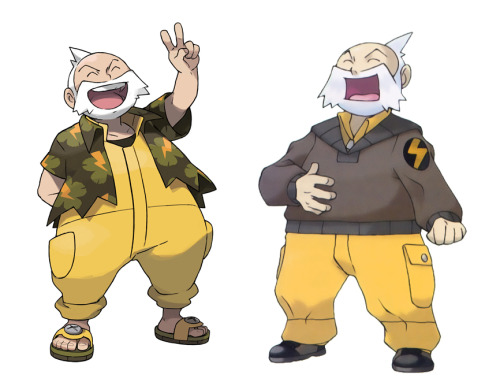 danshive:  morph-locked:  just a comparison between Suigimori's official character art from Omega Ruby and Alpha Sapphire to the originals. The redesigns are pretty great in my opinion  This could sincerely be used in a cartooning class with the intent of teaching the importance of action lines and expressive characters.