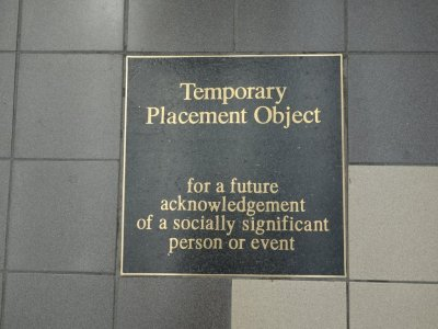 screenshotsofdespair:  Marker at Perth Railway Station, Western Australia