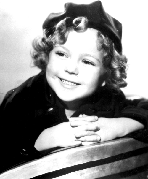 Shirley Temple in a portrait for Stand Up and Cheer, 1934.
