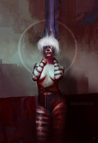 cyberpunkculture:  Pris / Blade Runner 30th Anniversary http://www.roman-noir.com/project/pris-blade-runner-30th-anniversary/  Awesome artwork