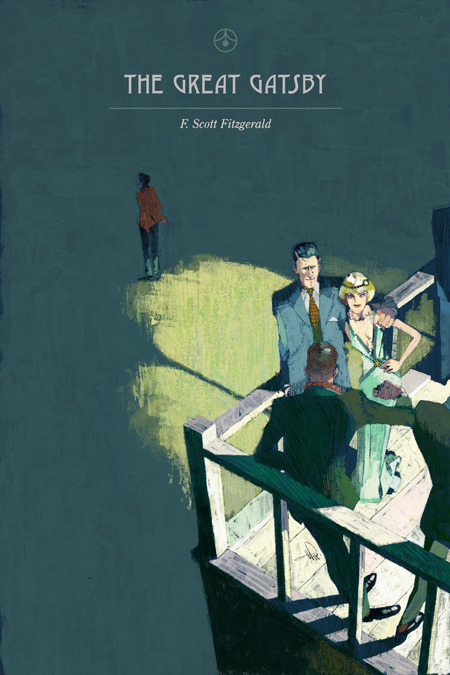 thetreehousepress:  The Great Gatsby Continuing from my the fan-covers I've done previous; Emma and Wuthering Heights, I present to thee my interpretation of The Great Gatsby by F.Scott Fitzgerald. The last few books I've read were Get Carter and Pride and Prejudice; enjoyed both, but they didn't compell me enough to draw a cover. Although, just yesterday a nice idea came for Pride and Prejudice, so just maybe I'll do that next..