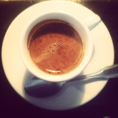 First espresso of 2013: Primes Seasonal Espresso from Ritual at Sweetleaf in Williamsburg.  (at Sweetleaf)