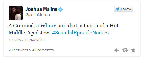 Ha!  #ScandalEpisodeNames