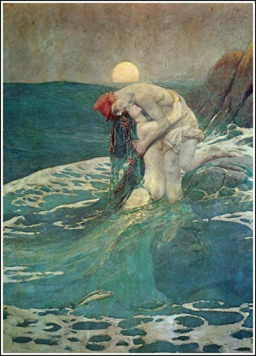 "axemansjazz:  Howard Pyle, ""The Mermaid,"" 1910."