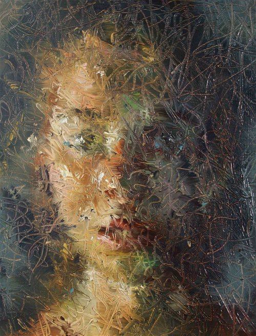 2headedsnake:  Paul Wright Distant Memory oil on board