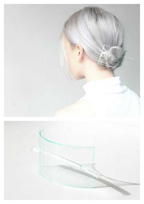 "DIY Plexiglass Large Hair Barrette Tutorial from Love Aesthetics here. Lovely and simple. Since I work with plexiglass all the time (life size art installations) here are a few tips: Home Depot sells small size pieces like 8"" x 10"" up to poster size and drilling holes in plexiglass is tricky. It cracks very easily and water will cool down the drill bit to make this less likely to happen."