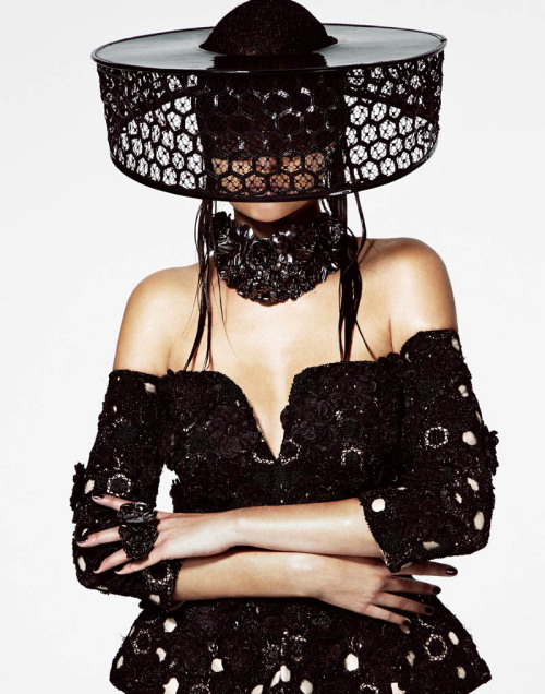 Model @JosephineSkriver wears @WorldMcQueen for @VMagazine #83 by @JasonKimphoto