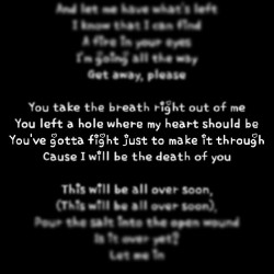 Cause I'll be the death of you. #lyrics #breakingbenjamin #breath