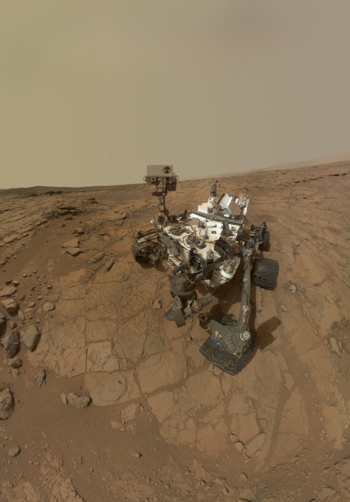 Curiosity Rover's Self Portrait at 'John Klein' Drilling Site (by NASA Goddard Photo and Video)