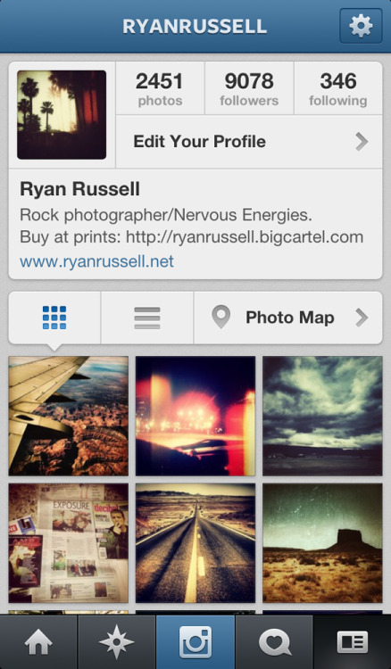If you aren't already, follow me on instagram. You'll see more new photographs of mine here than anywhere else. I've got some special surprises in the next few weeks posting here too. Username: ryanrussell