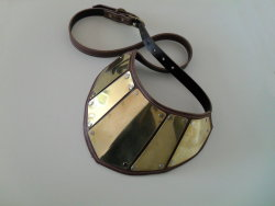 Brass and Leather Gorget/Pauldronby ~DoctorSprockets from http://doctorsprockets.deviantart.com/art/Brass-and-Leather-Gorget-Pauldron-324813983
