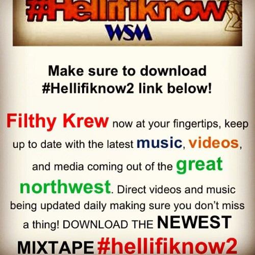 S/O to @imthatjose for creating the #FilthyKrewApp check it out and download to stay up to date with the latest videos & music from #WSM   #Share #Support #Music #Hiphop #Northwest #App #Videos #Like