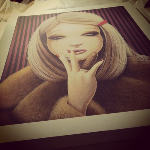 "Gallery 1988 is releasing my ""Margot Helen"" piece as a print tomorrow! Limited edition of 50, signed and numbered. Available tomorrow at www.nineteeneightyeight.com :)"