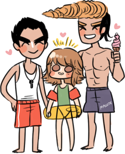 super high school level family goes to swim