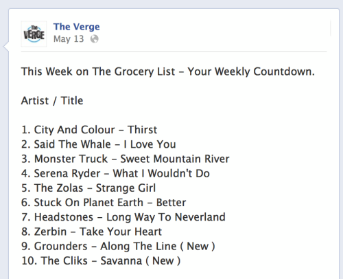 "Our latest single ""Take Your Heart"" hit #8 on The Verge this week. Give it a listen here: https://soundcloud.com/zerbin/take-your-heart"