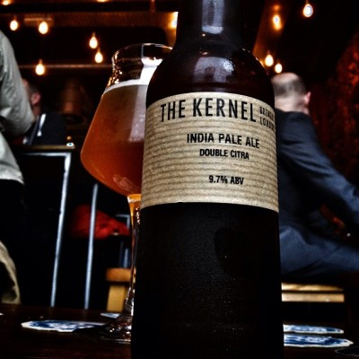 The Kernel Double Citra IPA And they've done it. The Kernel have crafted a beer that trumps their amazingly delectable Citra IPA. And funnily enough, it comes as no surprise that the beer to achieve this is the bigger, more talented older brother. With hops as brutal as a barknuckle boxers fist and an undeniably smooth malt foundation, this DIPA climbs the ranks to be one of the tastiest beers I've had the privilege of experiencing.  RS