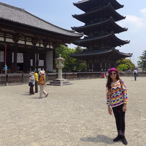 Five-story Pagoda, a symbol of Nara city 🏯 (at 興福寺 Kōfuku-ji Temple)