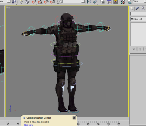 A rig I'm creating for RE6's Agent. Why? Well, basicly just seeing of I can remember how to create a rig, and the Agent seems like a good test subject.  Fairly sure I'll regret that in the skinning process. (All those PROPS man!)