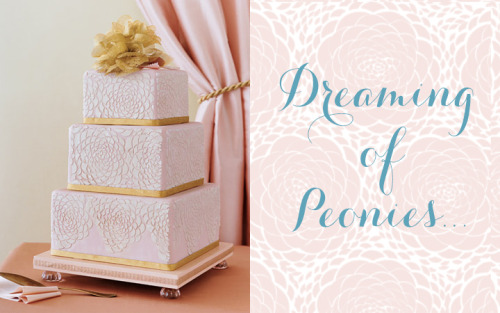 This incredible Peony patterned cake inspired the custom background for the new Hey Wedding Lady blog! I can't wait to share all the new design features with you when it goes live. Check back soon for more updates on the new site!