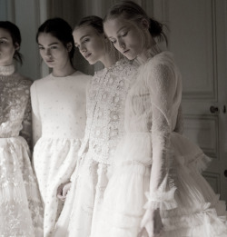 Backstage at Valentino Haute Couture Spring/Summer 2013 Photographed by Kevin Tachman