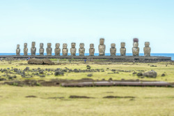 Photo: Richard Silver. Moai of Easter Island, Chile.