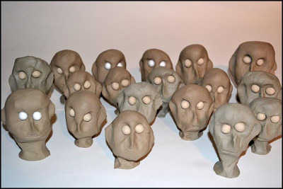 Blind clay puppets. 82 to go…