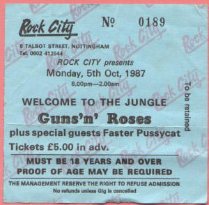 Seeing GNR live in late 1987, still nearly a year away from becoming one of the biggest bands in the world, would not have broken the bank.