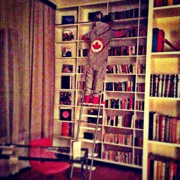 "Justin Bieber - ""Sooo @justinbieber has a library in his room lol"" -DJ Tay James via Instagram."