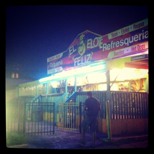 Night run with le bro!  (at El Elote Felez)