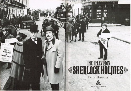 fuckyeahgranadaholmes:  granadabrettishholmes:  The Television Sherlock Holmesby Peter Haining Honestly guys, when you a Sherlock Holmes fan or/and a Granada Fan, you need this book. It is full of wonderful pictures and text about Granada Holmes and Sherlock Holmes and Jeremy, David and Edward and of course all the others. I know it is rare, so it is from time to time available on ebay and the price is not that much, you might think it is. I paid - no kidding - £ 3,60 plus shipping. (So I guess that was real luck, but you can get it for under 20) Keep your eyes open, maybe you can find it also at a flea market or something.  I was fortunate to snag my copy on eBay a few years ago and I doubt I paid more than 4 dollars for it at the time. Worth every penny! Bottom line, if you can find it, do yourself the enormous favour and buy it.