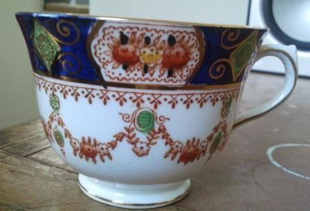 My teacup    Bought as part of a set for £9.99 in Silloth, April 2013.  Just thought I'd mention it.
