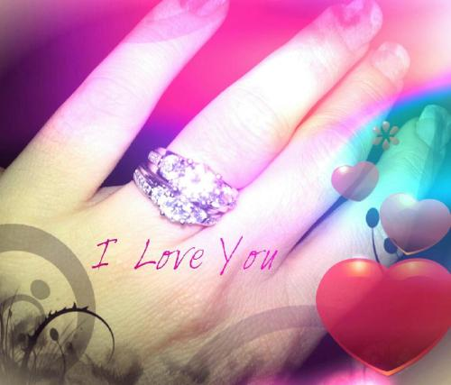 my baby made this pic of my wedding set. June 2nd 2013 can't wait!