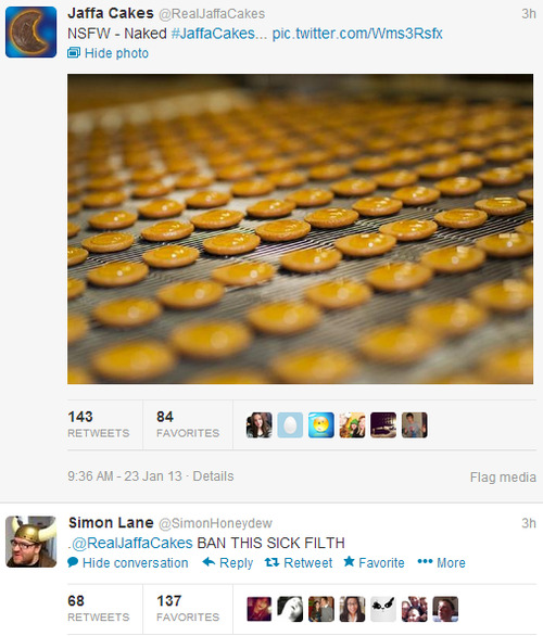 pretty-burning:  youknowyourebritishwhen:  Jaffa cakes are serious business…  THERE ARE CHILDREN ON THIS SITE.