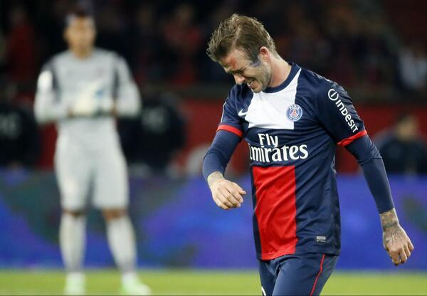 David Beckham - Emotional David Beckham leaves pitch in tears as he completes final home match of hi