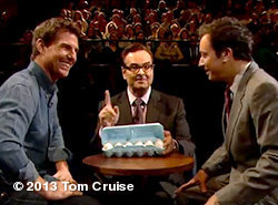 http://clicky.me/JimmyEggsOnTom Jimmy Fallon talks to Tom about his love for flying & then something really eggciting happens -TeamTCView more Tom Cruise on WhoSay