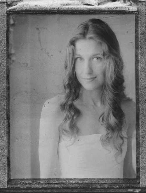mallory farrugia on her wedding day new orleans, la  polaroid 600se fp-3000b negative scan