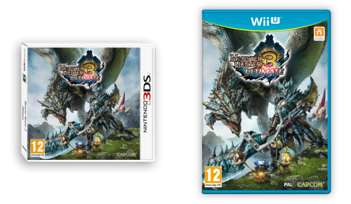Monster Hunter 3 Ultimate WiiU & Nintendo 3DS European boxarts