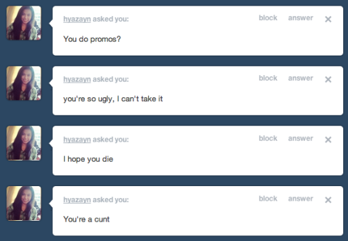 skate-high:  tumblr user hyazayn does not realize i have a fake anonymous button tumblr user skate-high laughs hysterically