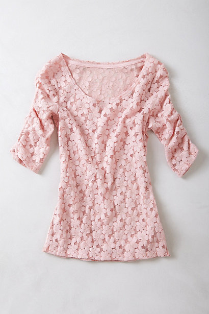 [Brushed Lace Pullover by Anthropologie]