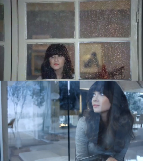 Zooey Deschanel is the spokesperson for agoraphobia. (iPhone / Pantene)